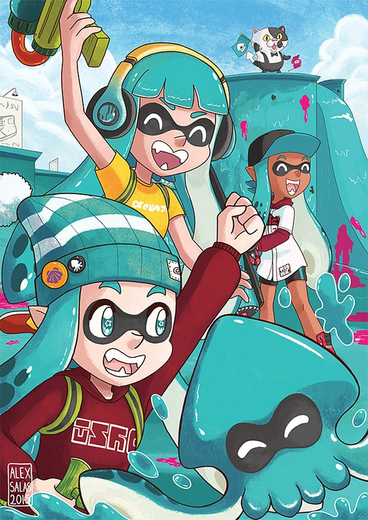 contribution Splatoon charity f - alexandrasketch | ello