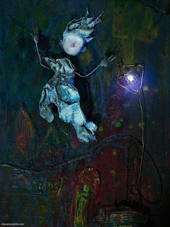 faerie, doll, sculpture, lantern - checanty   ello