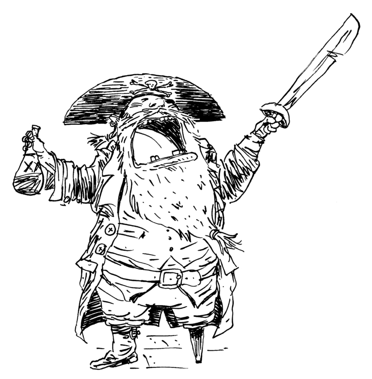 Ink Pirate - illustration, characterdesign - kevinahern | ello
