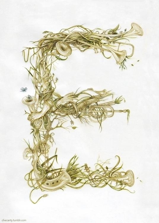 typography, fantasy, nature, music - checanty | ello