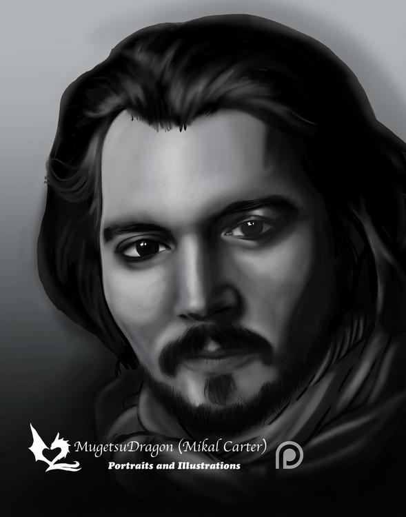 Johnny Depp Portrait Study - painting - mugetsudragon | ello