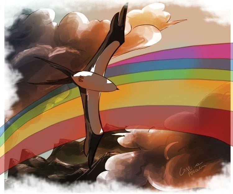 Swallow Rainbow. illustration s - cristinaporcelli | ello