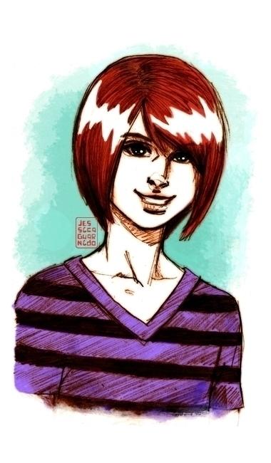 Cute teenage Boy - pencil, mixedmedia - jessicaguarnido | ello