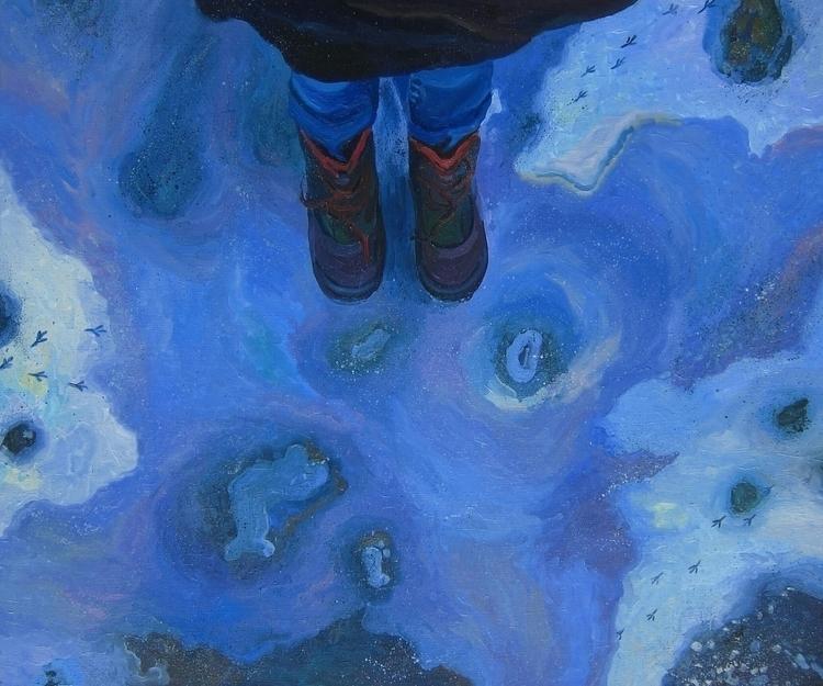painting, oiloncanvas, legs, winter - vitacalm | ello