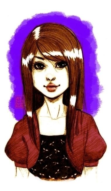 Beautiful Iris teenage Girl - pencil - jessicaguarnido | ello