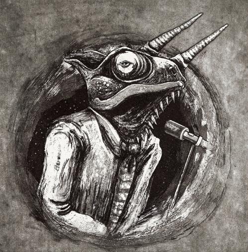 illustration, etching - maukins | ello