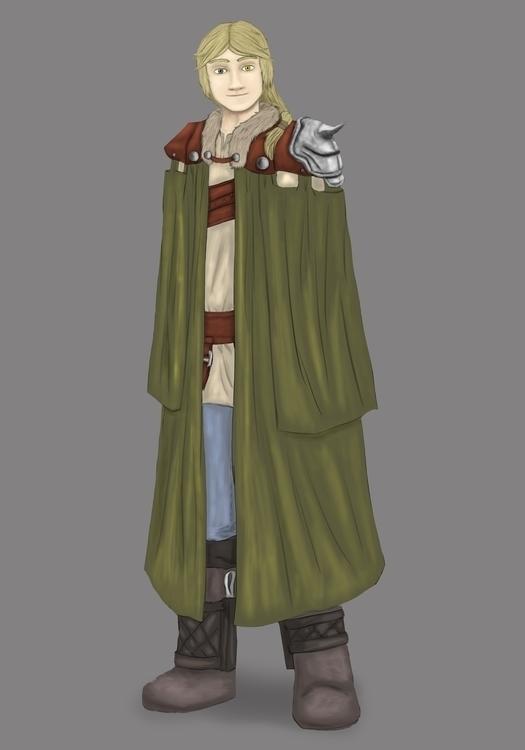 Aaron 20 years - illustration, characterdesign - aleban | ello