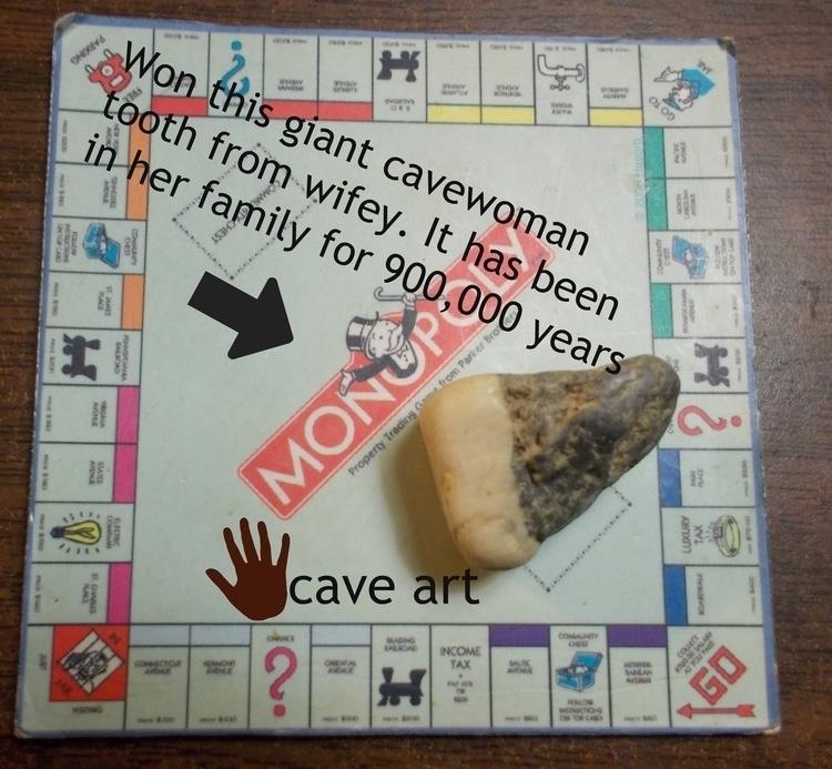 Giant Cavewoman Tooth - farrellhamann | ello