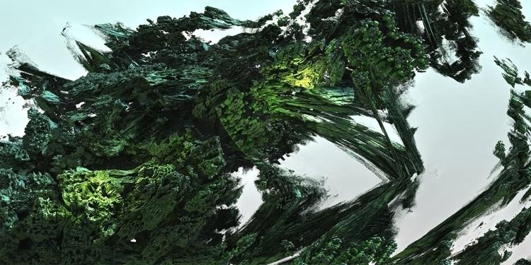 Green 3D Fractal - mandelbulb3d - iaingoodyear | ello