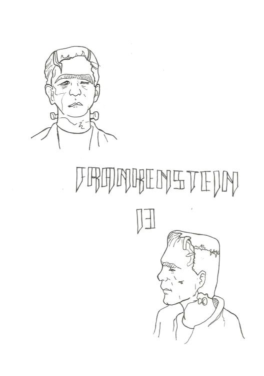 Lineart 13 Frankenstein - illustration - hotshots2000 | ello