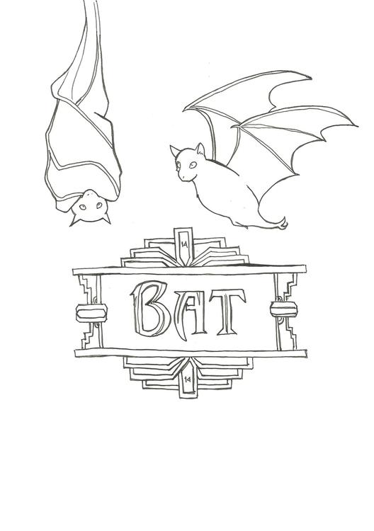 Lineart 14 Bat - illustration, drawing - hotshots2000 | ello