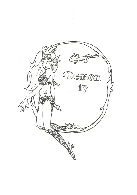 Lineart 17 Demon - illustration - hotshots2000 | ello