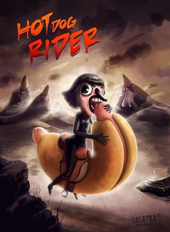 Hot Dog Rider Evening coming wi - gagatka | ello