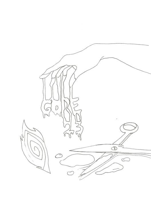 Lineart 23 Gore - illustration, drawing - hotshots2000 | ello