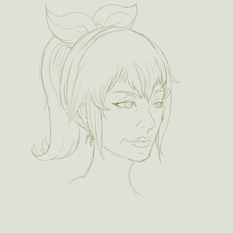 sketch young princess - wip, female - doodles-4576 | ello
