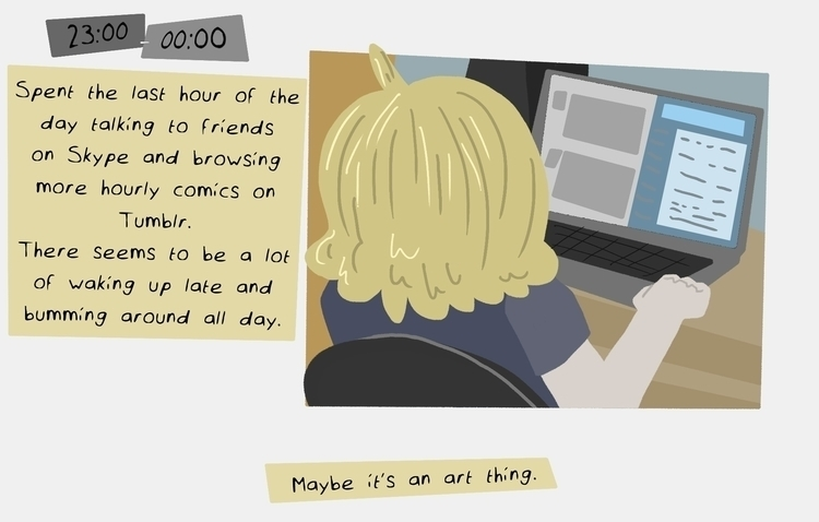 Hourly Comic Day, Part 15/15 - hourlycomicday - odddino | ello