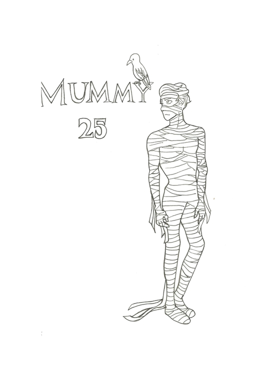 Lineart 25 Mummy - illustration - hotshots2000 | ello