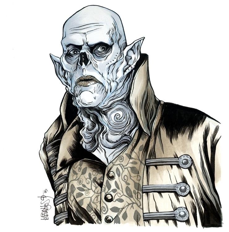 Master Strain - illustration, inkdrawing - leonbraojos | ello