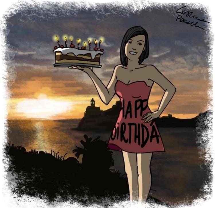 Birthday card. illustration dre - cristinaporcelli | ello