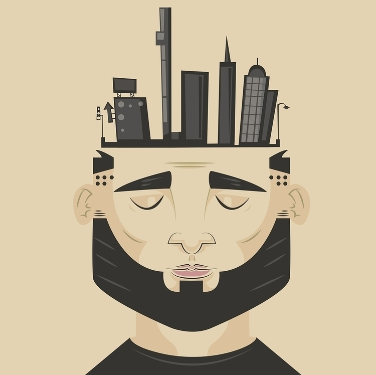 Head city - illustration, design - rustamization | ello