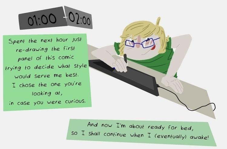 Hourly Comic Day, Part 3/15 - hourlycomicday - odddino | ello