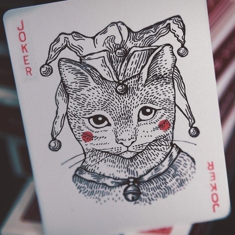 cat joker - graphic, art, traditionalart - zizilka | ello