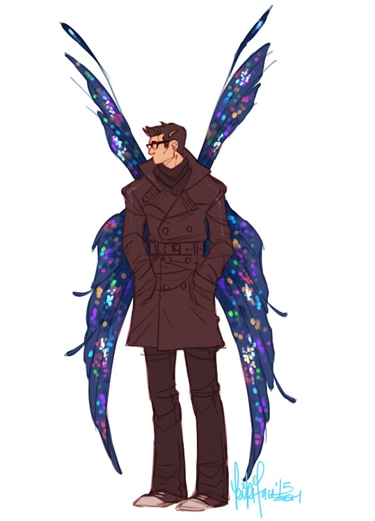 Butterfly man - butterfly, commission - kikiface | ello