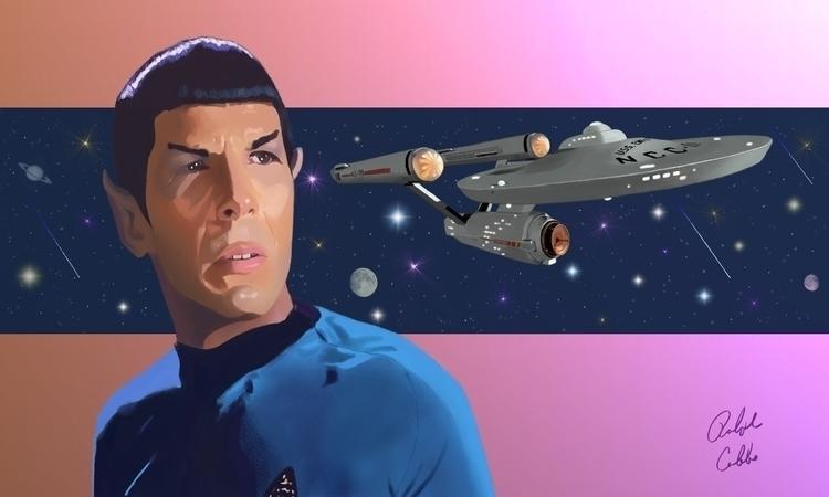 Spock Legacy - digitalillustration - ralphcobbs | ello