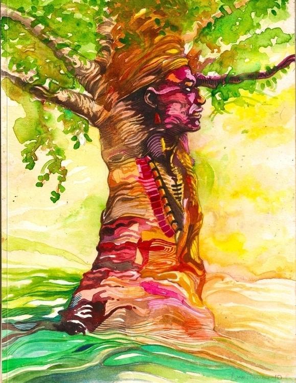 human ladder - painting, conceptart - sunnyefemena | ello