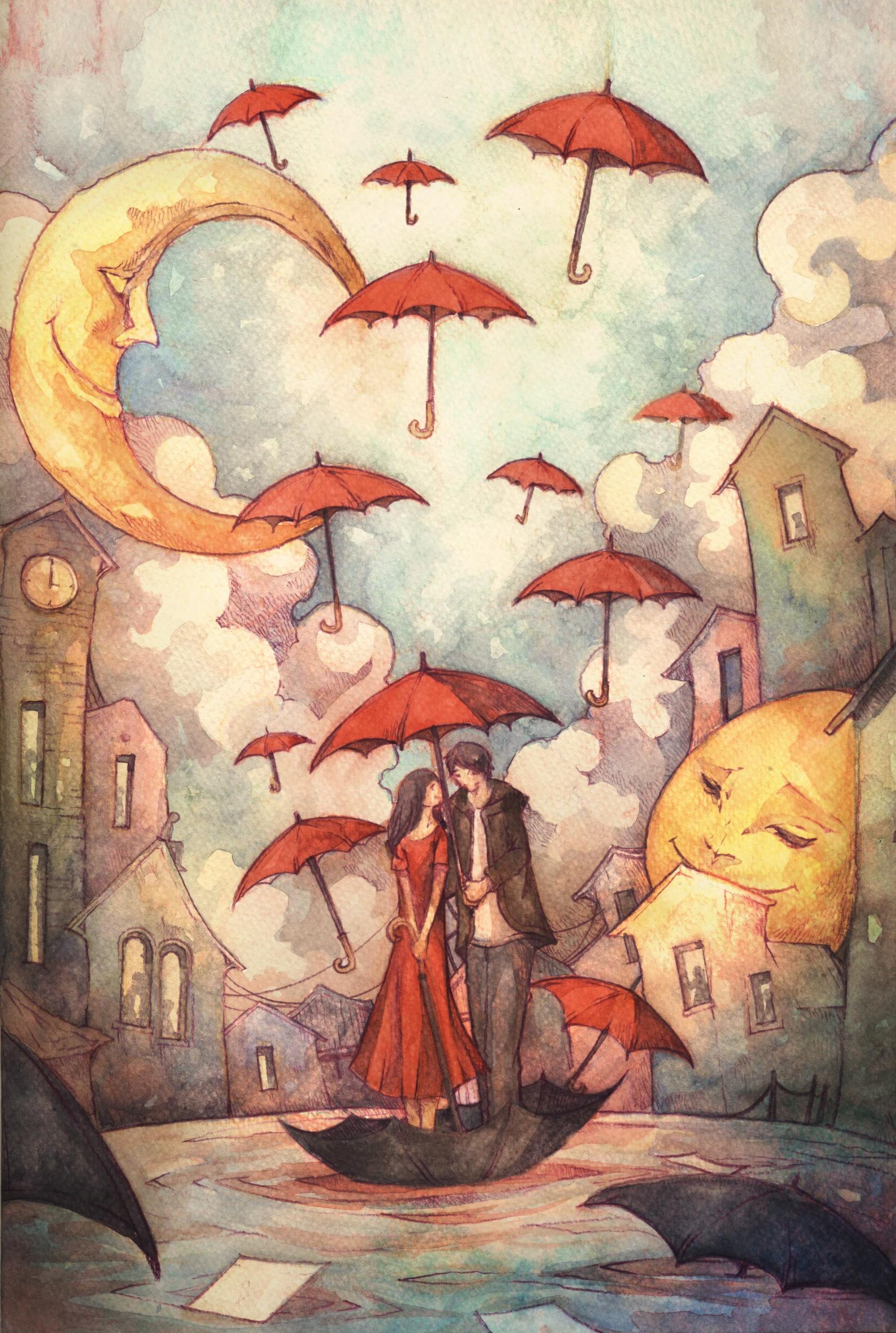 hopes floats - illustration, lovestory - azisanoor | ello