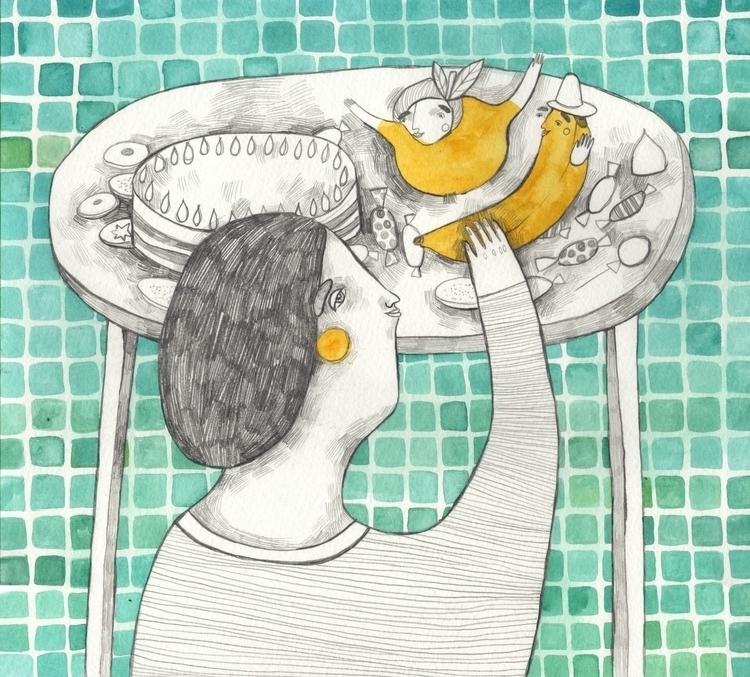 Friendly fruit-people - illustration - msarte | ello