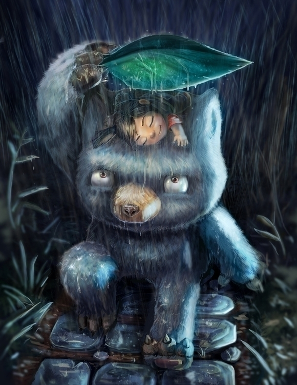 Monster Rain - cute, illustration - bryan-8334 | ello