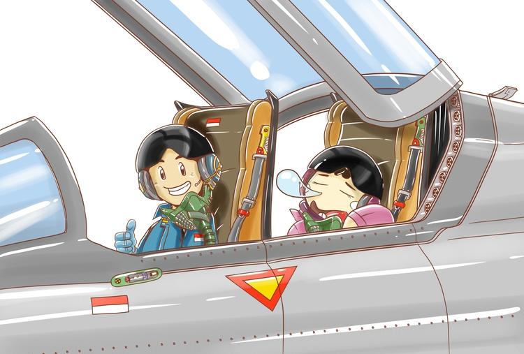 Jet - illustration, drawing - vidiyan   ello