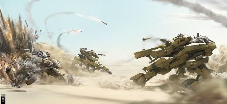 Mecha-tank concept_03 - conceptart - mohzart   ello