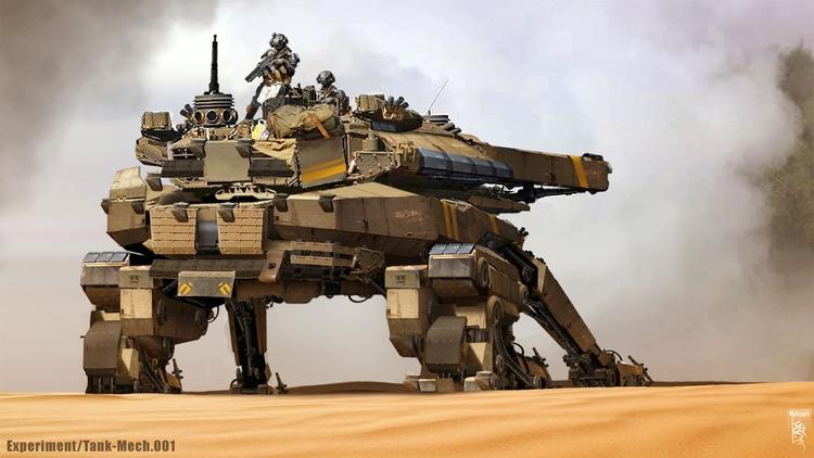 Mecha-tank concept_02 - conceptart - mohzart | ello