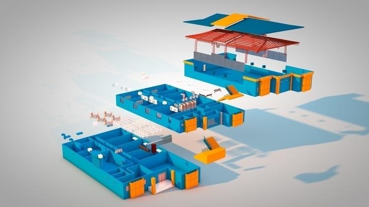 School Building - 3d, 3dmodel, 3drendering - kniknox | ello
