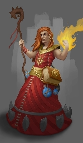 Fire mage - sorcerer, wizard - kamilteczynski | ello