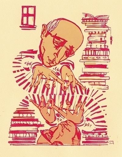 Dueling Pianos - illustration, drawing - elaramari   ello