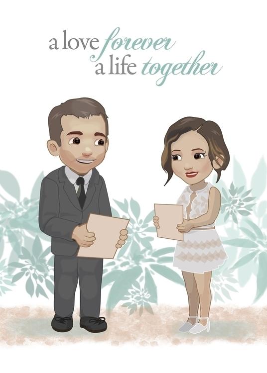 Wedding Card Sister - characterdesign - bryan-8334 | ello