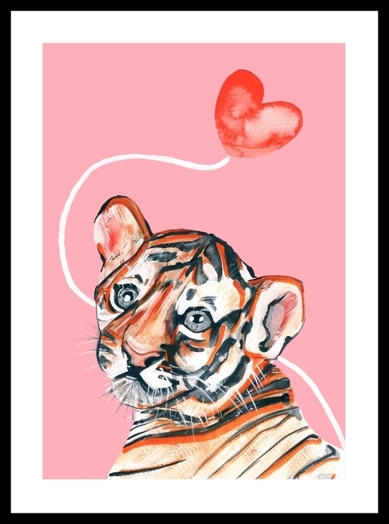 Cub Tiger - illustration, painting - sianjordan | ello