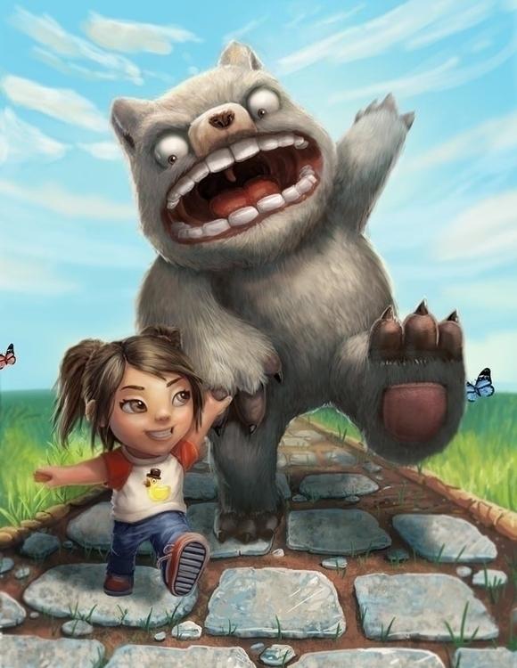 Monster - illustration, children'sbook - bryan-8334 | ello