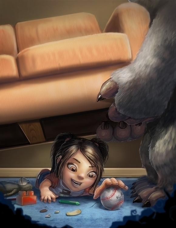 lies Beneath - monster, cute, children'sillustration - bryan-8334 | ello