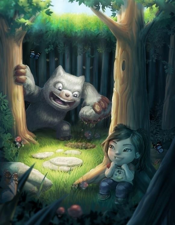 Monster Hide Seek - cute, hideandseek - bryan-8334 | ello