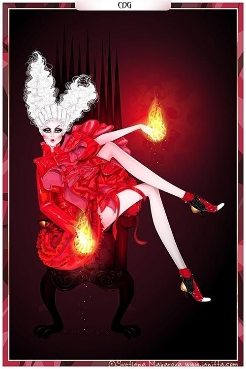 Fire Walk - fashionillustration - svetlanamakarova | ello