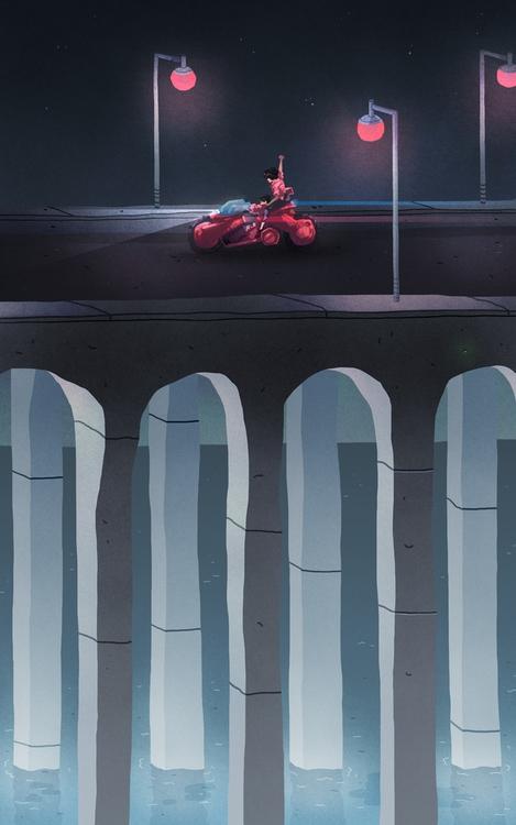 Akira calendar illustration - austineustice | ello