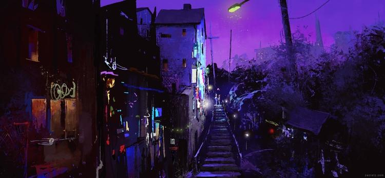 Night City concept. post video  - zacretz | ello