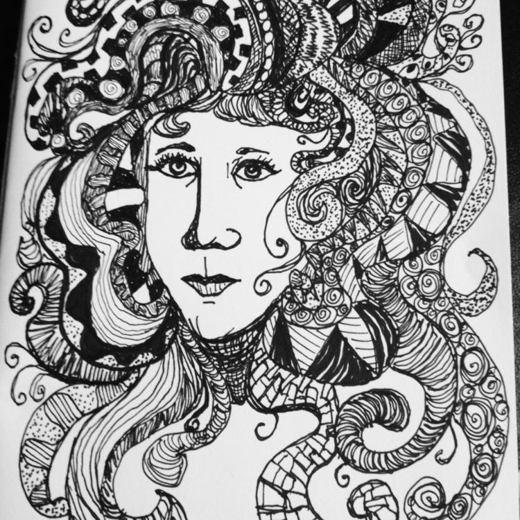 Zen tangled lady - carolinelifshey | ello