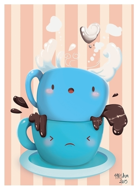 Coffee Milk - illustration, digitalart - thiagoshiniti | ello