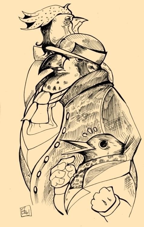 Fan art Aviary Attorney, visual - tofuplusbeast | ello