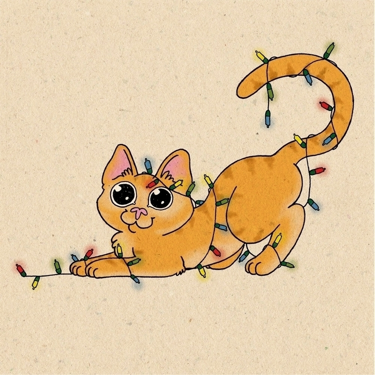 Faísca - illustration, drawing, cat - andreiasilva-1404 | ello